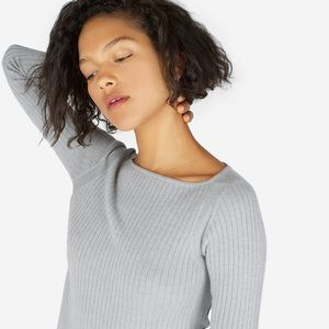 Everlane Luxe Wool Ribbed Boatneck Top (size M)